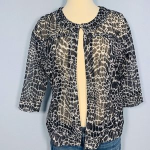 EUC Onque Casuals Animal Print Open Front Cardigan